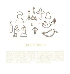 Jesus Christ religion background vector image