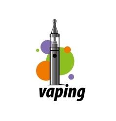 logo electronic cigarette vector image