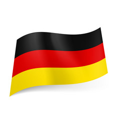 national flag of germany black red and yellow vector image