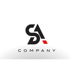 sa logo letter design vector image vector image