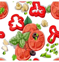 Seamless ornament with fresh vegetables vector image vector image