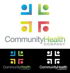 Social community health icon logo vector image