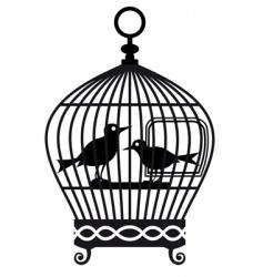 vintage birdcage graphic vector image