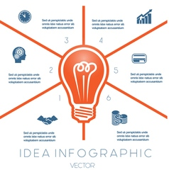Business Concept Light bulb infographic 6 vector image