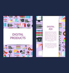 card template for digital art design vector image
