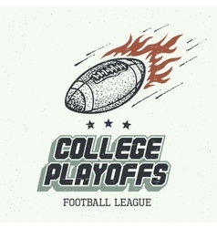 College playoffs hand-drawn vector image vector image