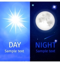 Day and night vector image