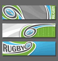 horizontal banners for rugby vector image vector image