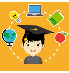 school design vector image vector image