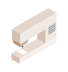 Sewing machine isometric 3d icon vector image vector image