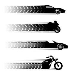 car and motorbike symbols vector image