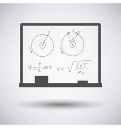 Classroom blackboard icon vector image