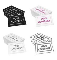 Business cards icon in cartoon style isolated on vector