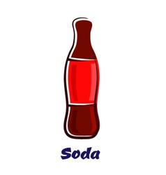 Cartoon bottle of soda drink vector image vector image