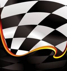 checkered wave golden vector image