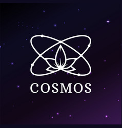 logo template on space background atom vector image