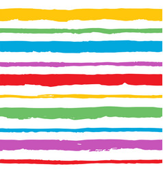 rainbow hand painted abstract brush strokes vector image vector image