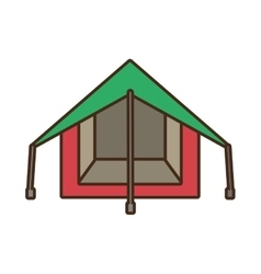 tourism tent camping excursions green and pink vector image