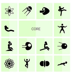 14 core icons vector