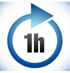 1h turnaround time tat icon interval for vector