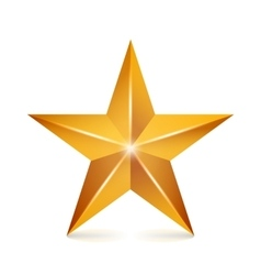 Achievement Star Yellow Sign Golden vector