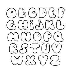 alphabet Hand drawn letters Creative vector image