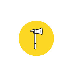 axe icon simple flat symbol vector image