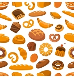 Bakery and pastry seamless pattern vector image
