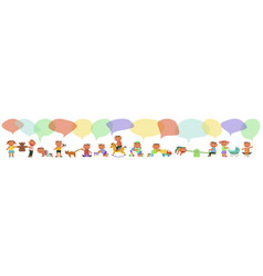 banner with kids vector image
