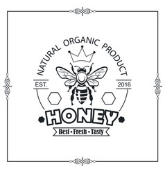 bee honey emblem vector image