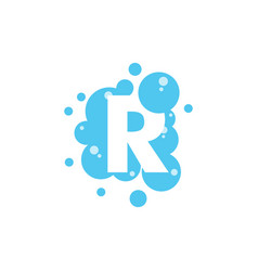 bubble with initial letter r graphic design vector image
