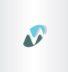 Business logotype m letter m icon logo vector