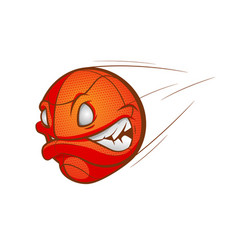 cartoon basketball ball vector image