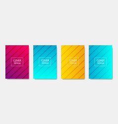 colorful modern template design for web halftone vector image