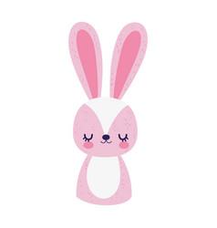 Cute bunny little animal cartoon isolated design vector