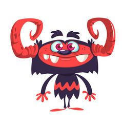 Cute cartoon gremlin or troll monster vector