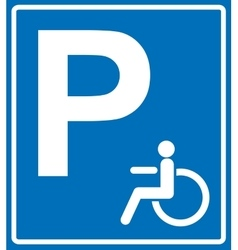 Disabled person parking sign banner on vector