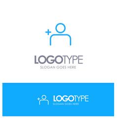 Discover people instagram sets blue outline logo vector