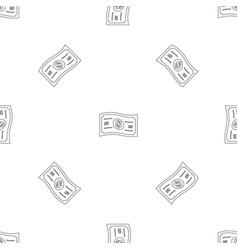 dollar bill pattern seamless vector image