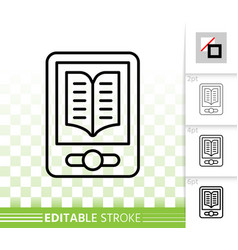 Ebook simple black line icon vector