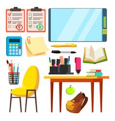 education icons isolated flat cartoon vector image