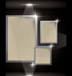 empty frame in a cube vector image