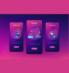 energy storage app interface template vector image