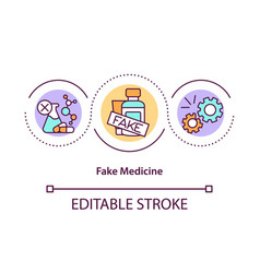 Fake medicine concept icon vector