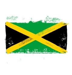 Flag of Jamaica on a white background vector