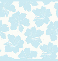 floral seamless pattern light sky blue lily vector image