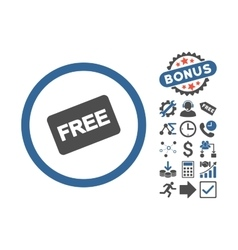 Free Card Flat Icon With Bonus vector