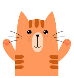 funny ginger cat isolated element cute feline vector image