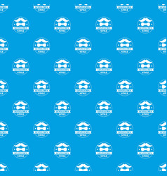 gentlemen style pattern seamless blue vector image