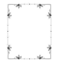 hand drawn floral borders frame decorative vector image